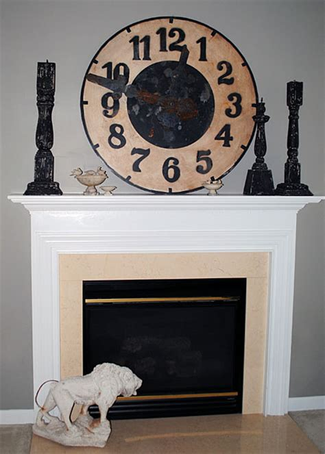 diy updating  fireplace   brass  graphics