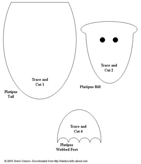 printable possum mask template paper bag platypus templates bags paper and platypus