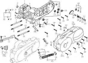 139qmb crank comp drive cover kick starter
