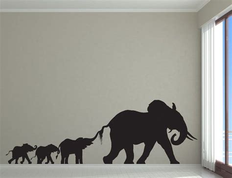 Elephant Room Decor Elephant Nursery Elephant Decor Elephant Family Decal Wall Decal Room Decor Elephant