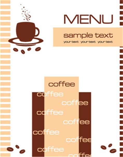 free cafe menu template vector cafe menu template free vector 14 143