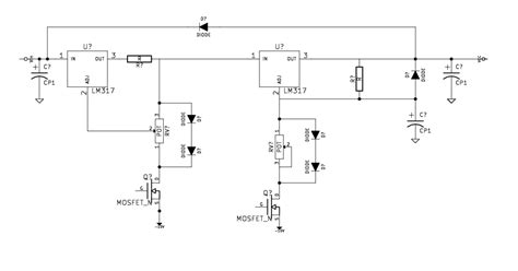 circuit bench meaning what use are the transistors in this lm317 based power