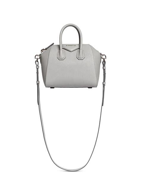 Givenchy Antigona Mini Bag givenchy antigona mini leather shoulder bag in gray lyst