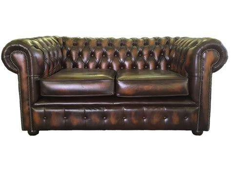 2 seater brown leather sofa bed chesterfield genuine leather antique brown two seater sofa bed
