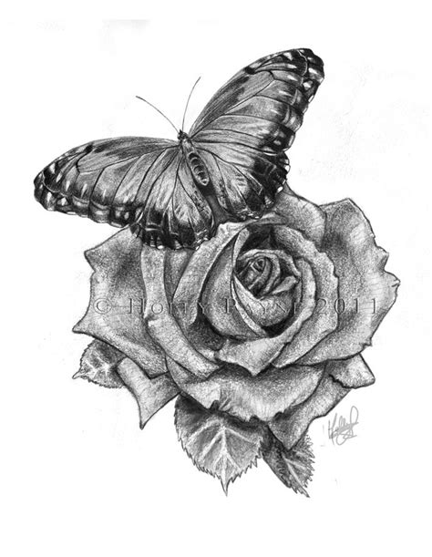 butterfly and rose tattoo designs top 25 best and butterfly ideas on