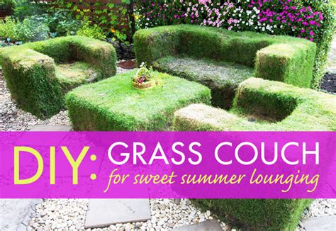 how to grow couch grass diy lawn couch for sweet summer lounging inhabitat