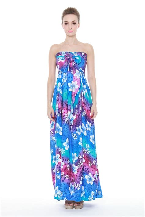 Rainbow Set Maxi hawaiian luau maxi dresses