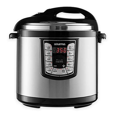 bed bath beyond pressure cooker buy gourmia smart pot multifunction programmable 10 qt