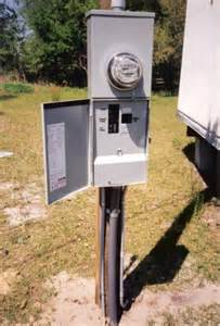 Electrical Pedestal Box A New 200a Power Pole For This Mobile Home