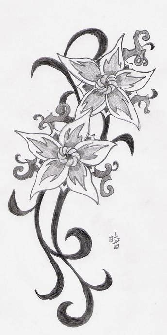 star and flower tattoo designs flower tattoos design