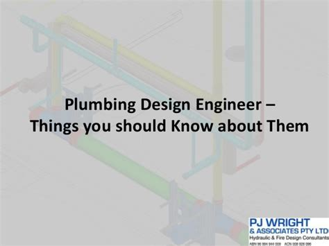 plumbing design engineer things you should about them