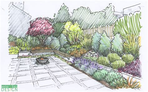 drawing of garden garden creation how to draw a perspective sketch