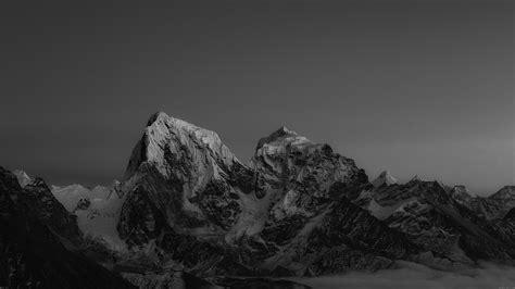 himalaya sunset dark mountain art papersco