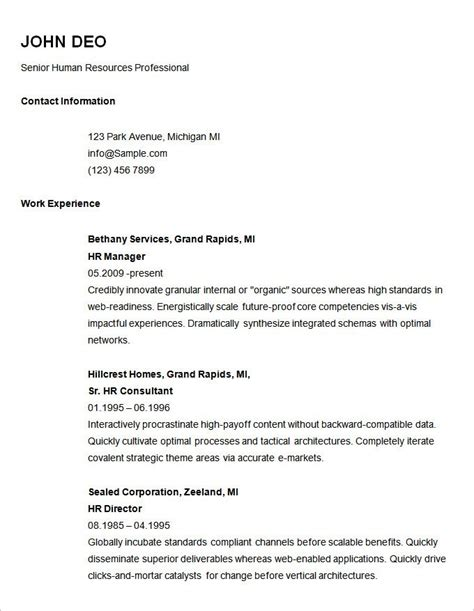 Basic Resume Template by 70 Basic Resume Templates Pdf Doc Psd Free