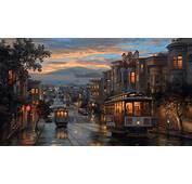 Rainy Night Artistic Painting HD Artist 4k Wallpapers