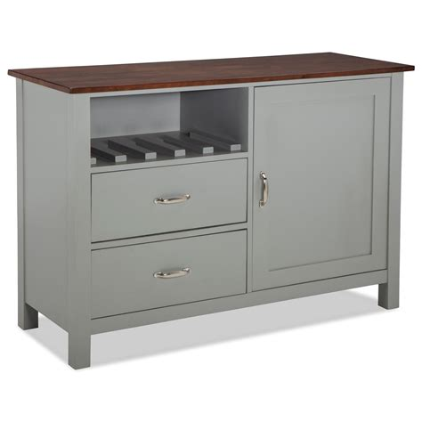 small buffet server intercon small space dining storage server buffet with wine bottle rack hudson s furniture