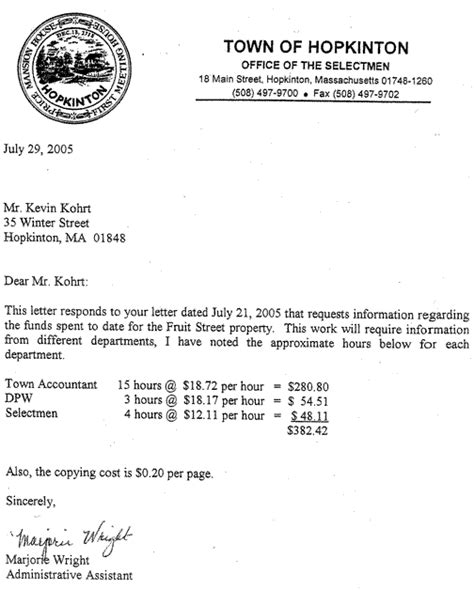 Request Letter For Motorcycle Sle Hopkinton News Only At Hopnews