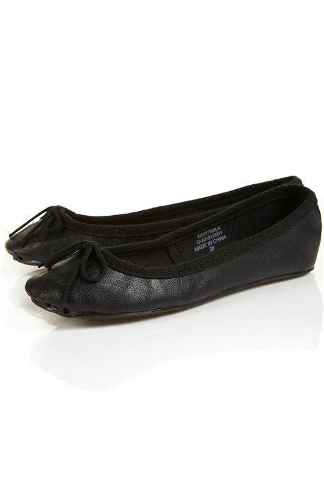 flat shoes topshop topshop vibrant ballet pumps in black lyst