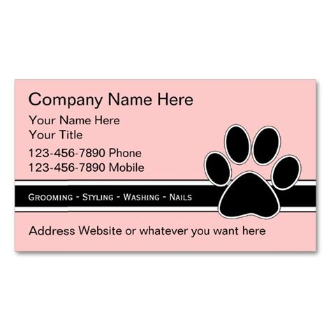 free grooming business card templates top 25 ideas about animal pet care business card templates
