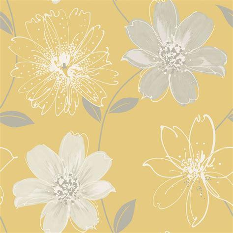 samba floral wallpaper yellow diy bm