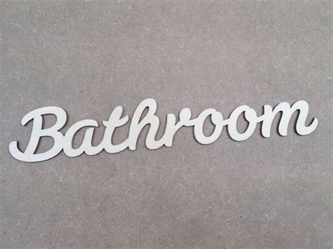words for the bathroom bathroom word 29cm wooden sign 5cm high x 1 craftshapes