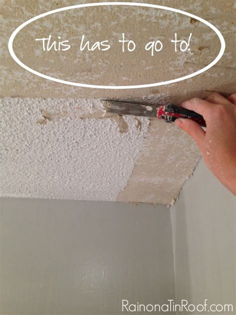 Remove Popcorn Ceiling Diy by How And How Not To Remove Popcorn Ceilings