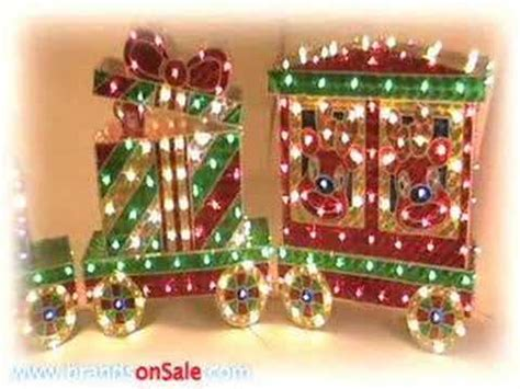 christmas outdoor halogrphic train decoration outdoor decoration