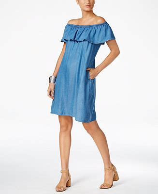 Style Co Dress style co denim the shoulder dress created for macy