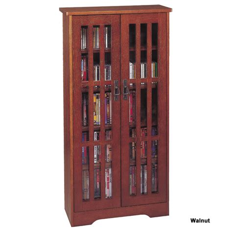Cd Storage Cabinet With Doors Leslie Dame Cd Storage Cabinet With Glass Doors Oak Walnut Or Cherry M 371