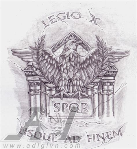 roman legion tattoo designs legion eagle by 71adl17 on deviantart