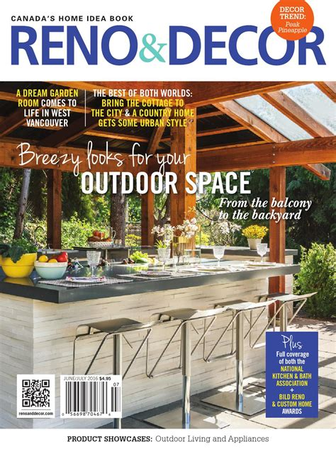 canadian home decor magazines magazine reno decor june july 2016 canada read online