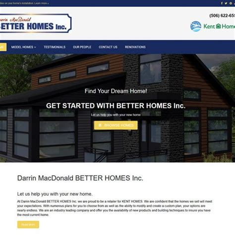 wbn home design inc mcg media projects website design and development