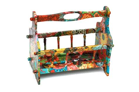 Decoupage Magazine - decoupage magazine rack decoupage magazine