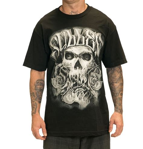 tattoo design shirts sullen color crimes mens skull design tshirt