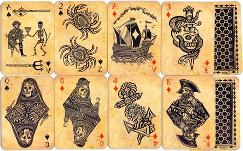pirate playing cards the world of playing cards