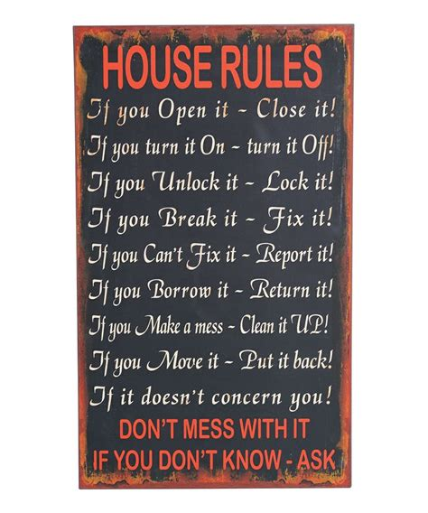 house rules house rules for the home pinterest