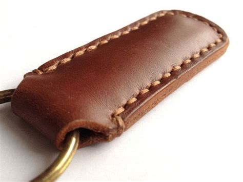 Handmade Key Fobs - handmade genuine leather handmade wristlet key fob by