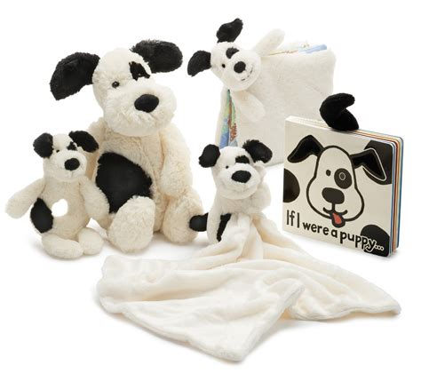 jellycat bashful puppy jellycat bashful black and puppy soother the animal kingdom