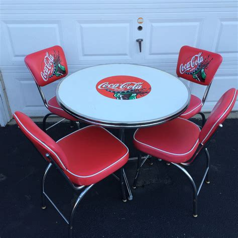 Coca Cola Table And Chairs by Vintage Coca Cola Table And Chairs All Luminum Products Ebay