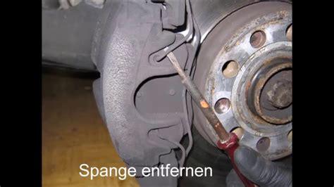Bremsen Wechseln Audi A3 audi a3 8p bremsen vorn wechseln scheiben backen youtube