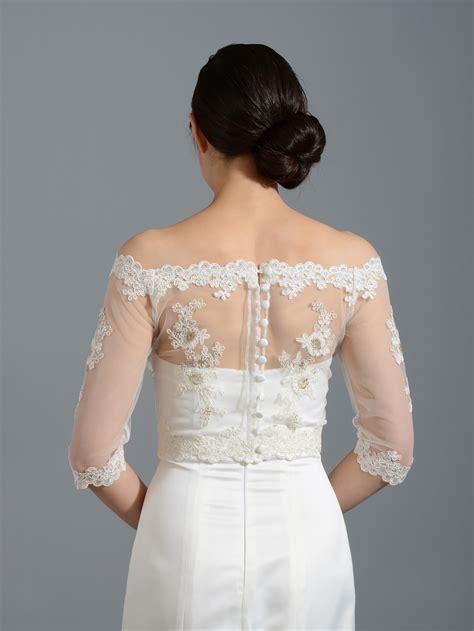 Wedding Jackets by Shoulder Lace Bridal Bolero Wedding Jacket Shrug Wj018