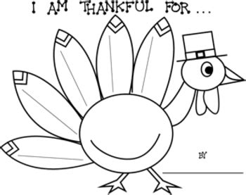 thanksgiving quot i am thankful for quot turkey printable