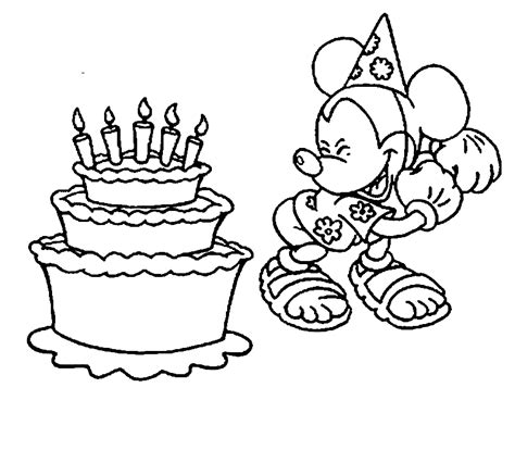 disney birthday coloring pages az coloring pages