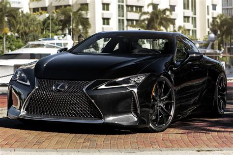 lexus lf lc black xo 174 verona wheels matte black rims