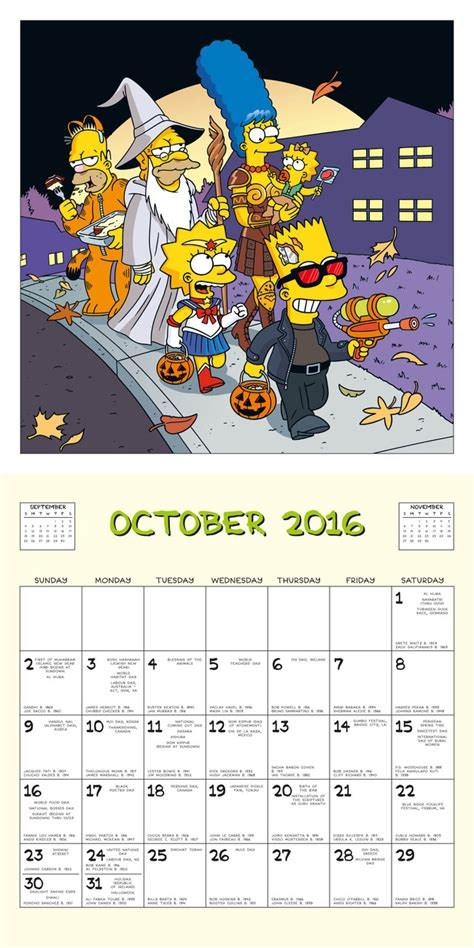 2018 the simpsons calendar year in a box the simpsons calendars 2018 on europosters