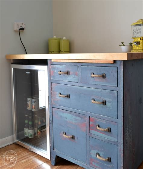 Refinishing Kitchen Cabinets Diy refinished antique baker s cabinet reused to create