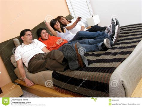 reclining in bed family reclining in bed stock photos image 11933353
