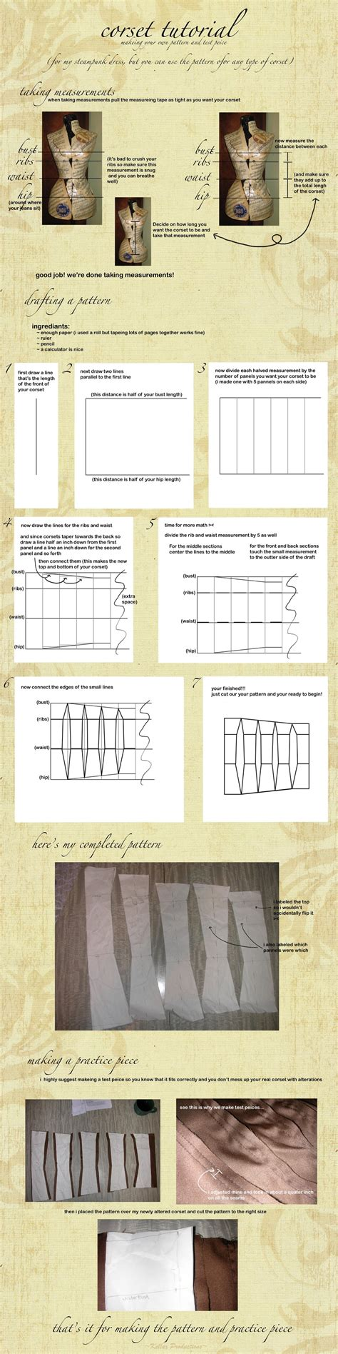 easy pattern drafting tutorial corset pattern drafting tutorial by kellaxproductions on