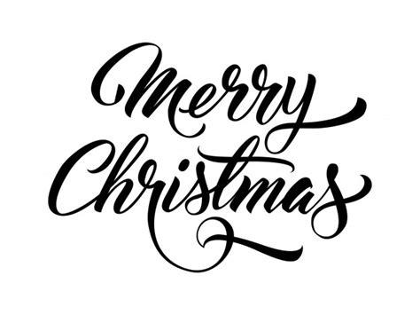 merry christmas handwritten text vector