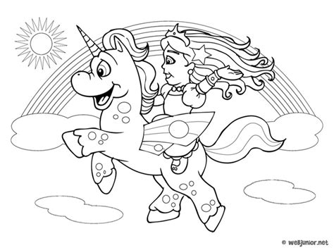 La Princesse Et La Licorne Coloriage Princesses Gratuit
